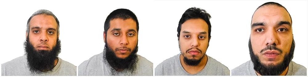 Навид Али, Хобайб Хусейн, Мохибур Рахман и Тахир Азиз, обвиняемые в подготовке теракта
