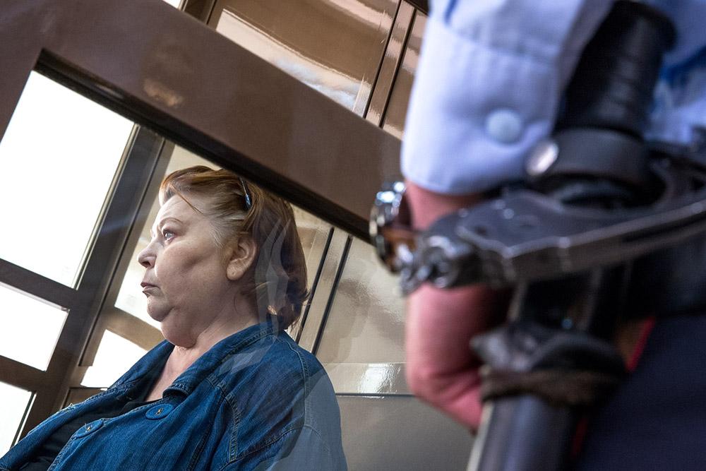 Бывший бухгалтер «Седьмой студии» Нина Масляева в зале суда