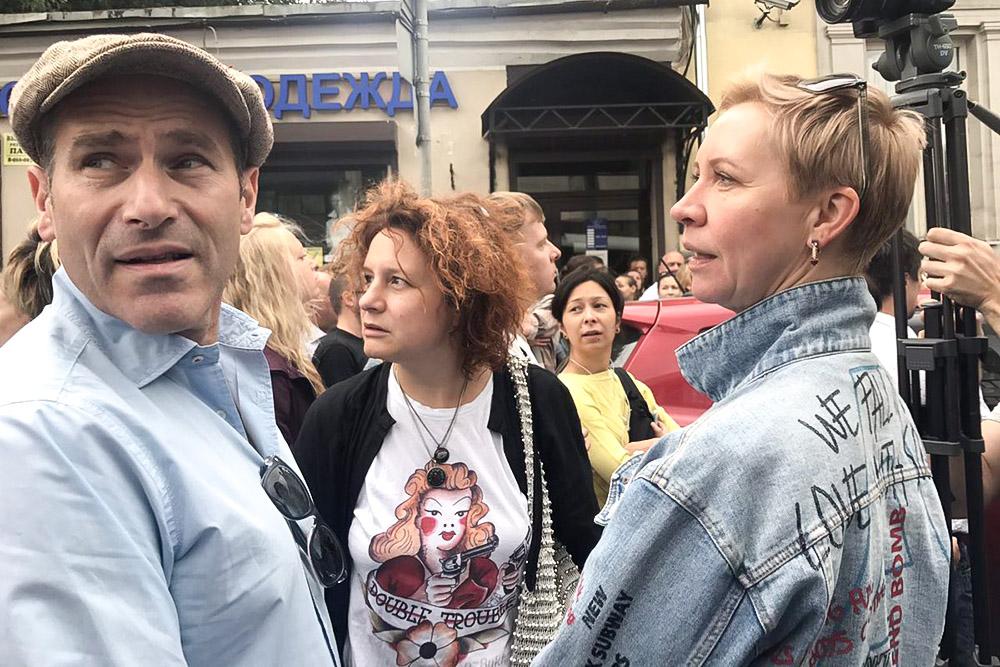 Телеведущие Михаил Шац и Татьяна Лазарева