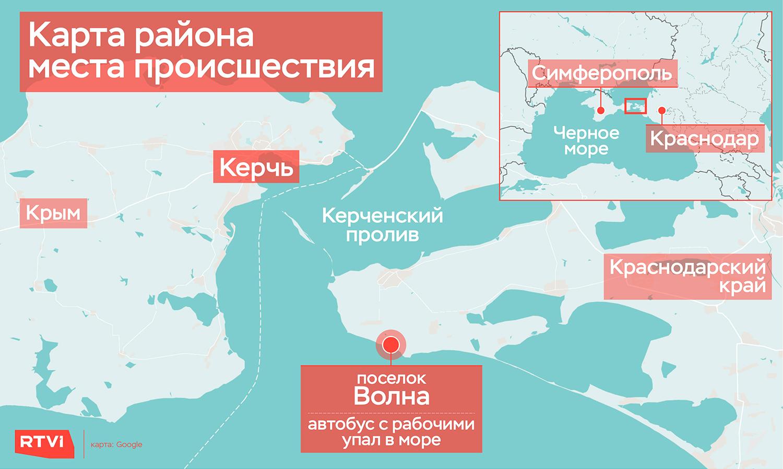 Карта района места происшествия