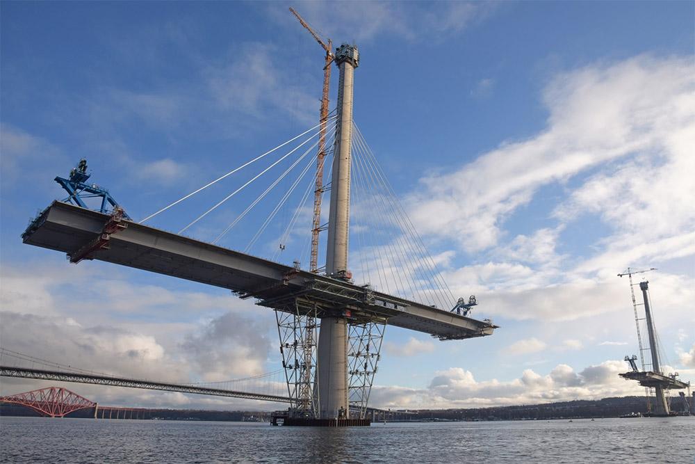 Строительство моста Куинсферри-Кроссинг, февраль 2016-го года