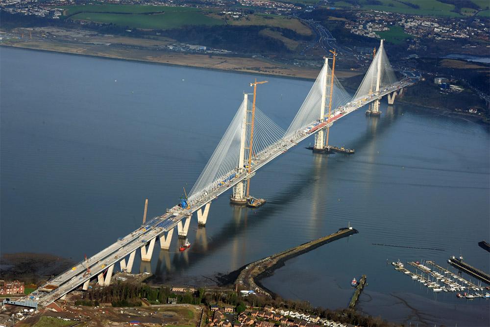 Строительство моста Куинсферри-Кроссинг, февраль 2017-го года