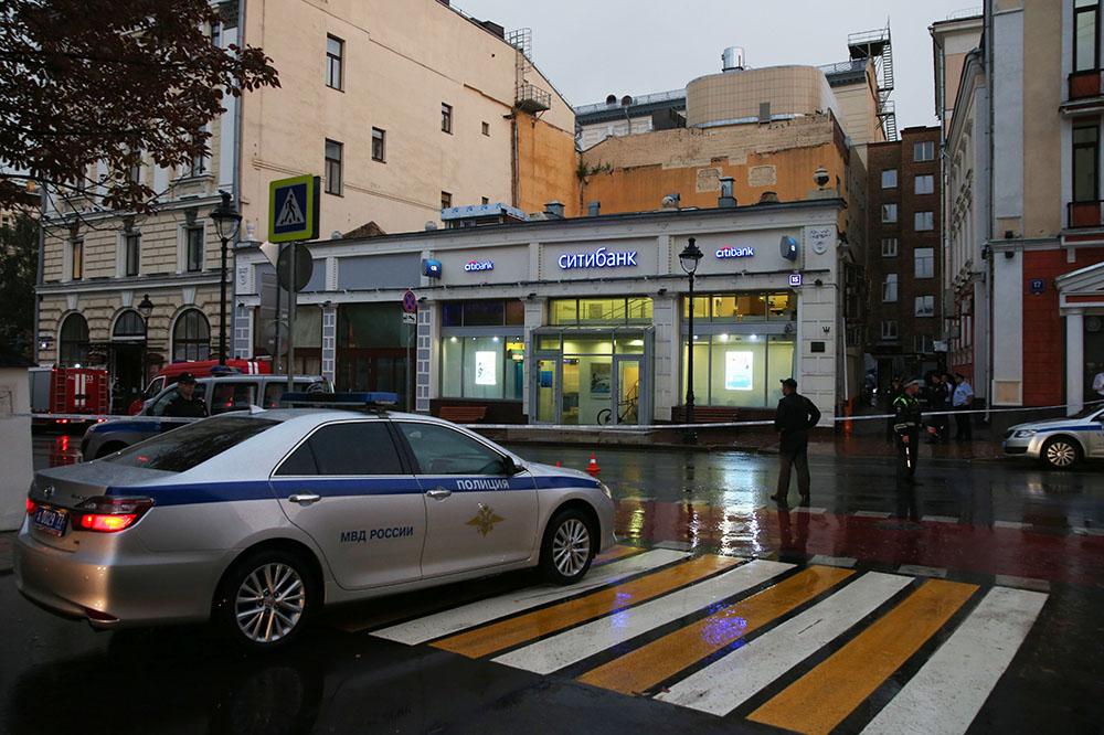Отделение банка, в котором Арам Петросян удерживал заложников