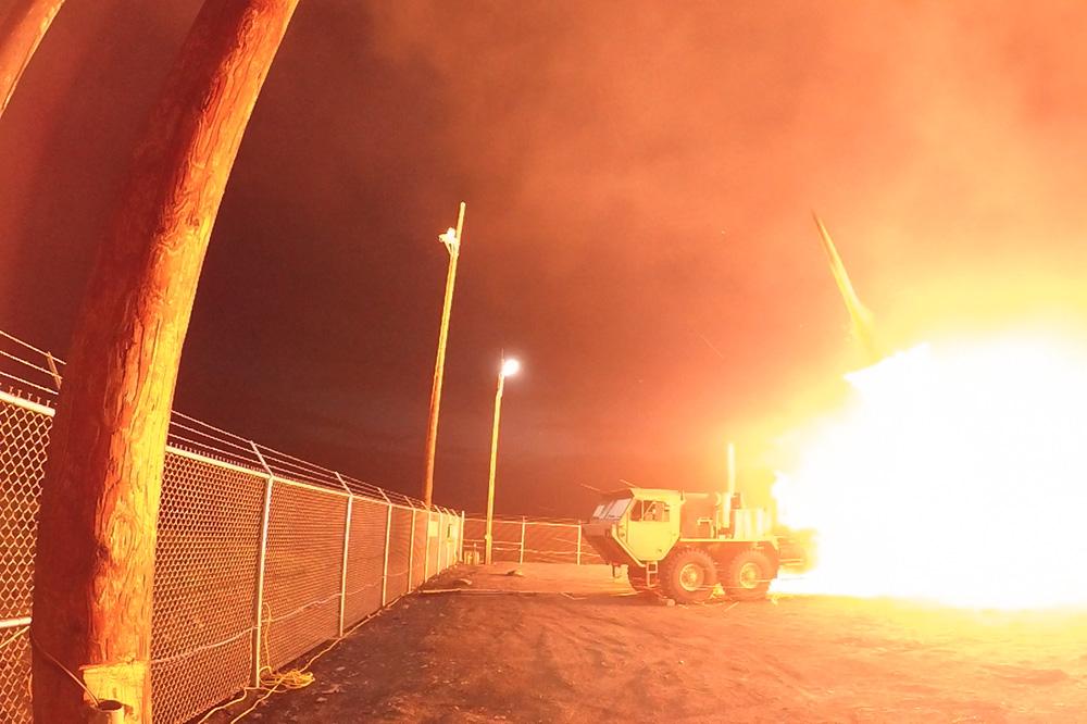 Испытания противоракетной системы THAAD в Аляске в 2017 году
