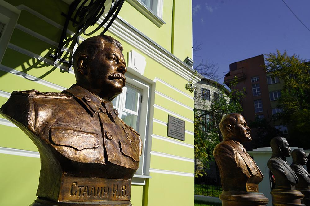 В столице России на«Аллее правителей» установили бюсты советских управляющих