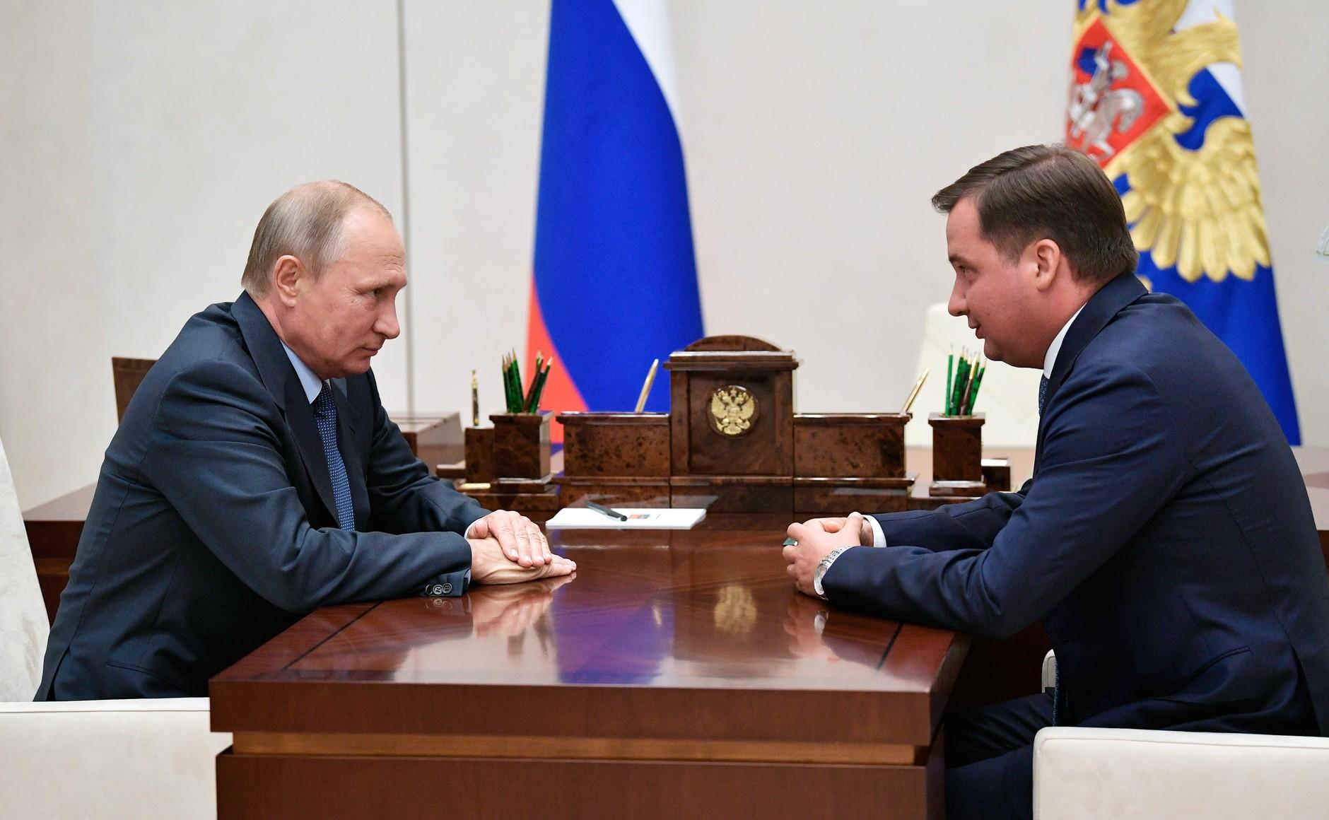 Владимир Путин с Александром Цыбульским