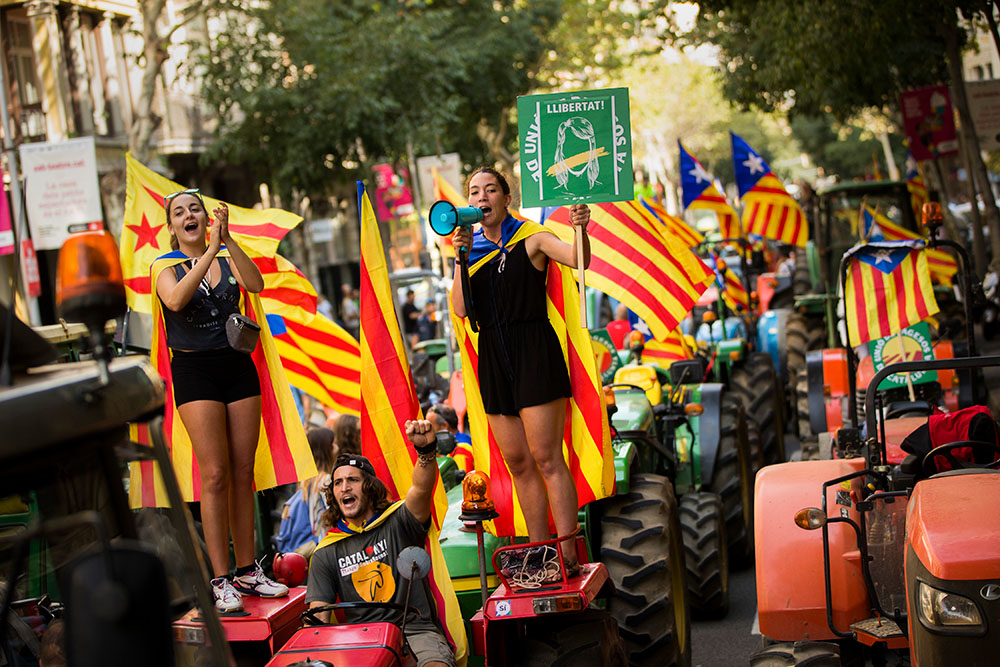 ВКаталонии обещали мирно провести референдум онезависимости