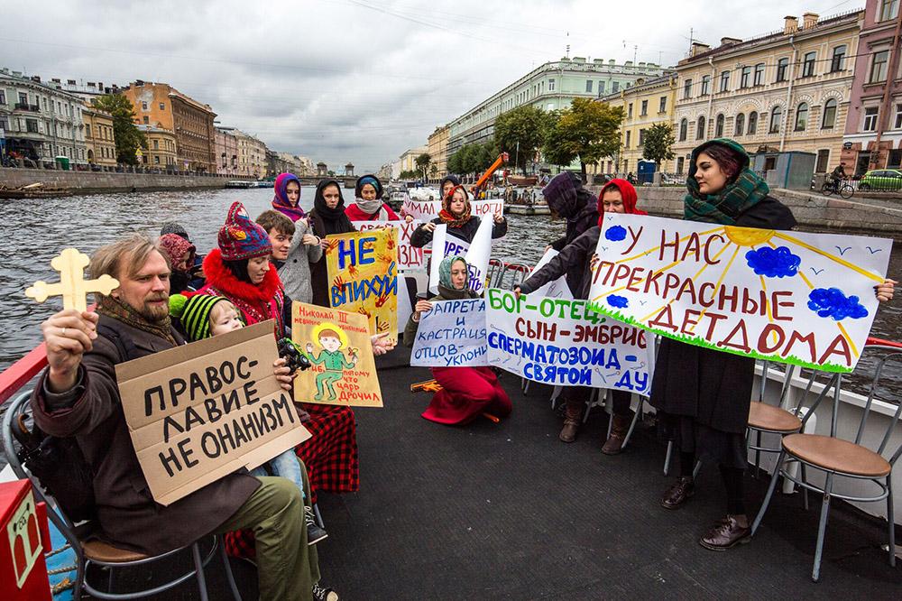 ВПетербурге порекам иканалам пройдет крестный ход против абортов