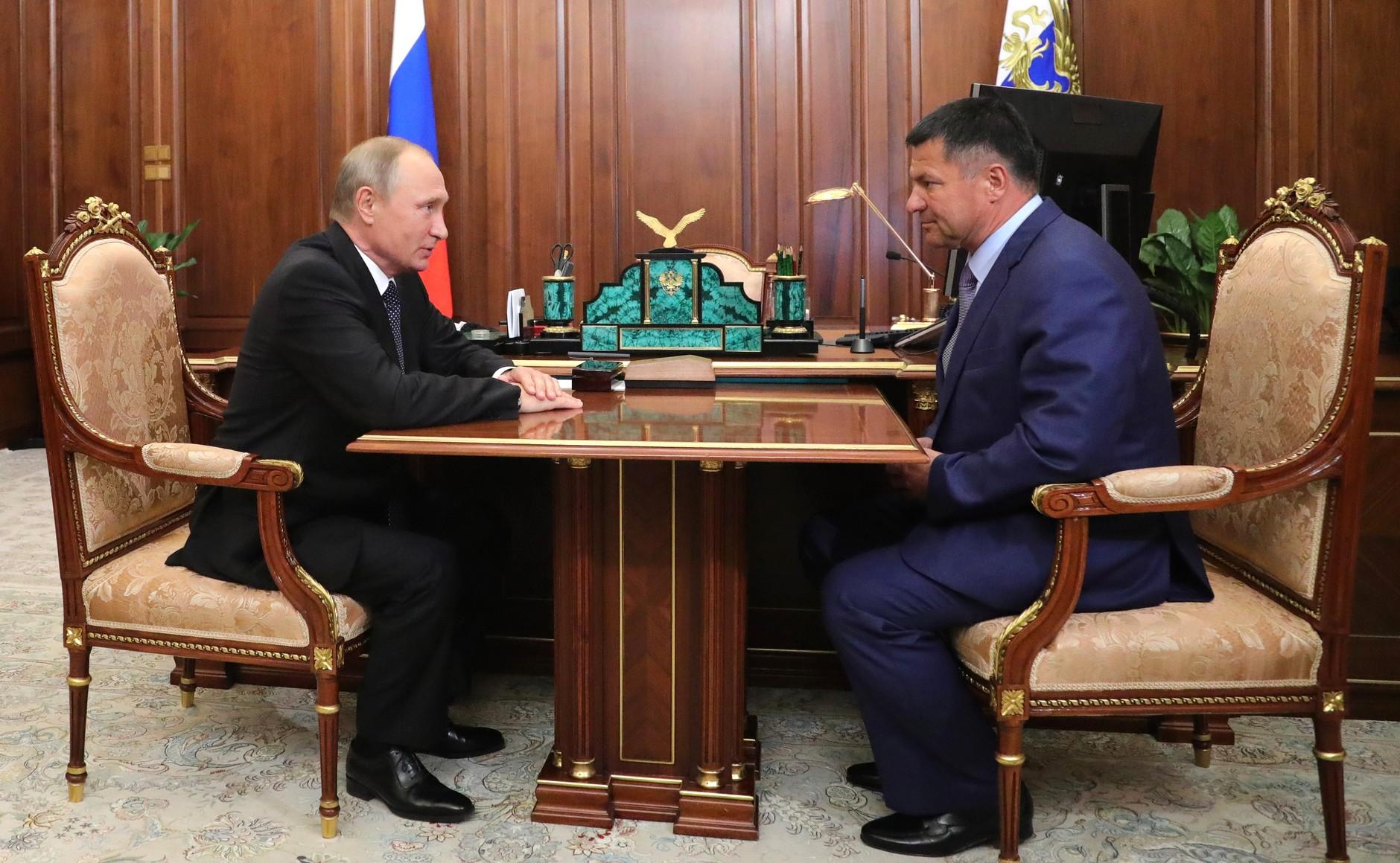 Владимир Путин с Андреем Тарасенко
