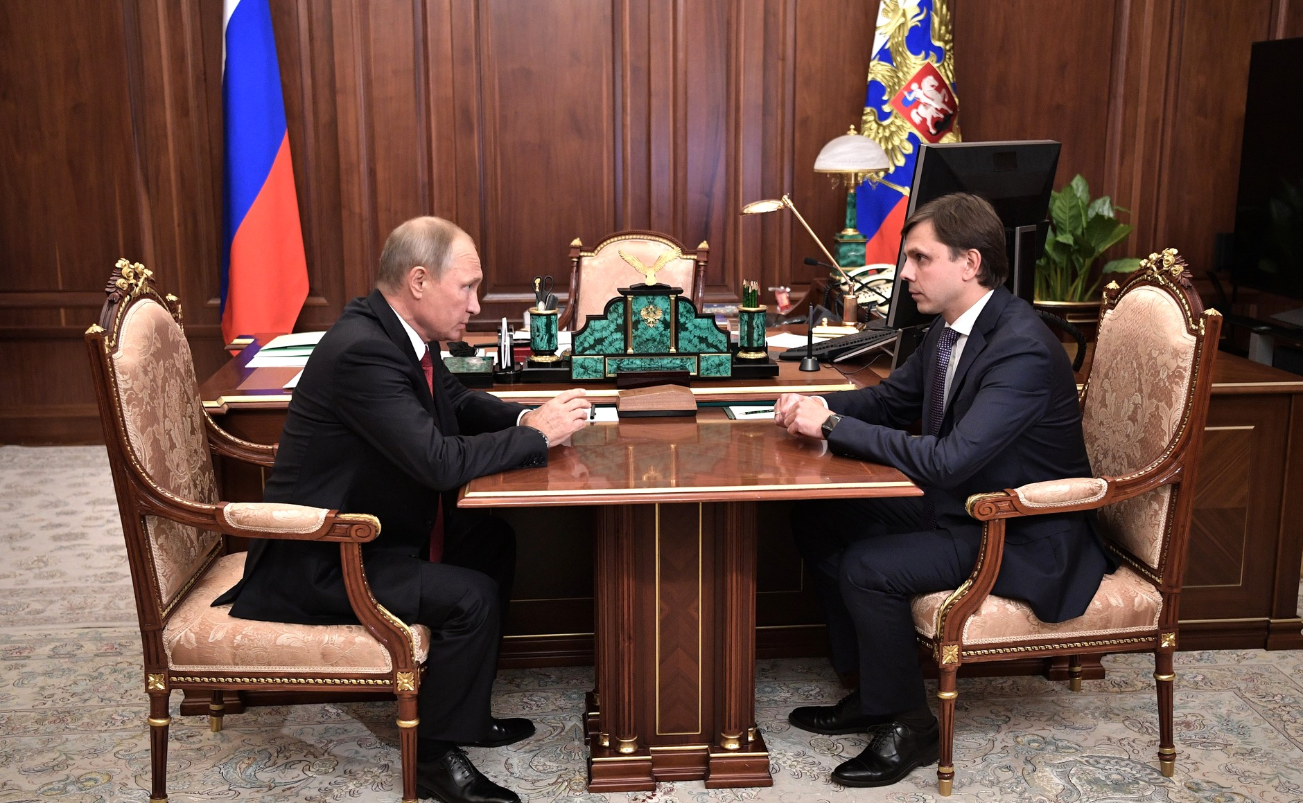 Владимир Путин на встрече сАндреем Клычковым