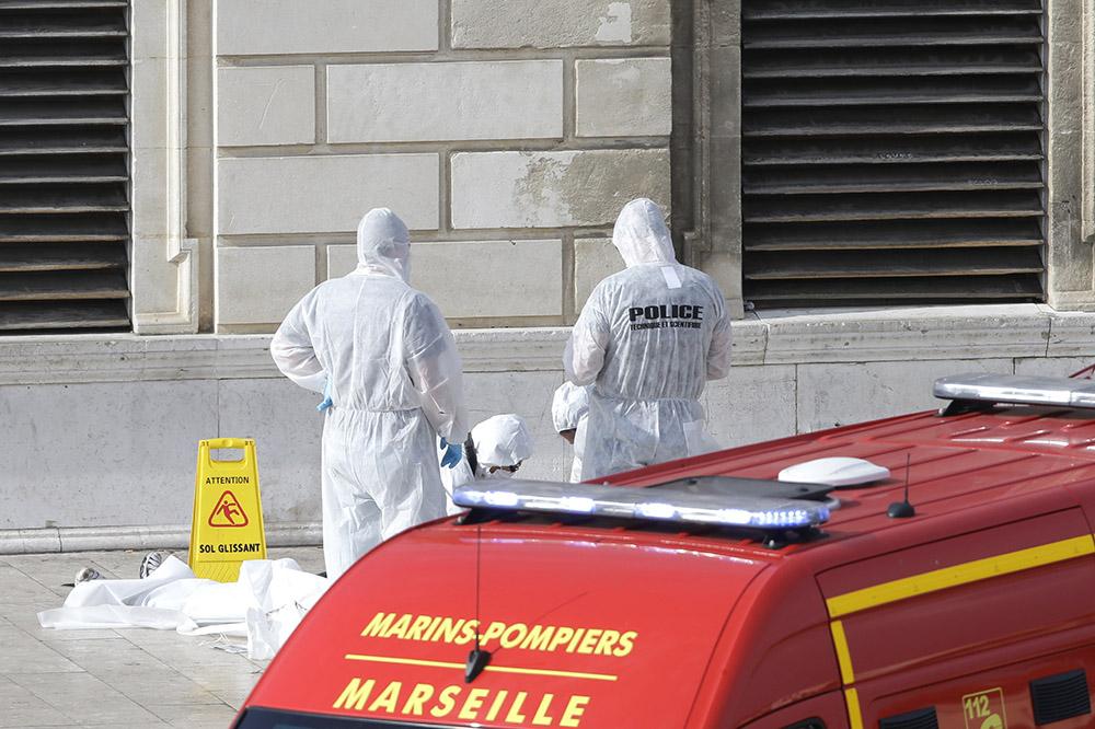 Место происшествия в Марселе