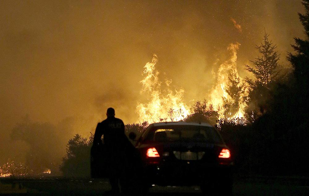 Вред отлесных пожаров вКалифорнии оценивается в $1млрд