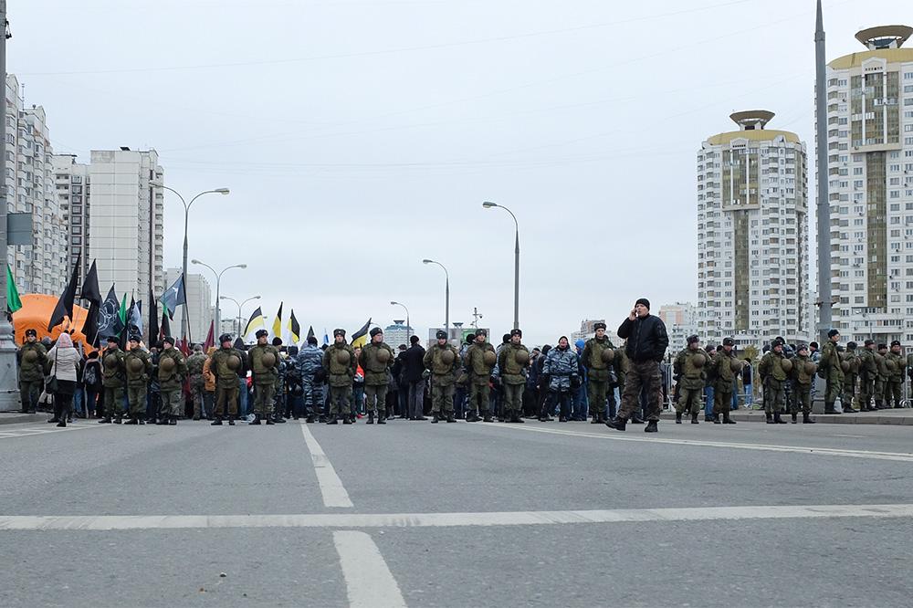 На «Русском марше» в российской столице  задержали 70 человек