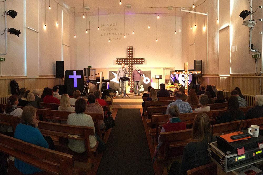 Главный зал существующей церкви