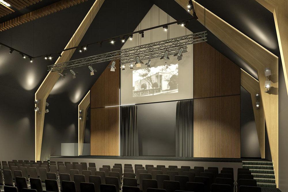 Эскиз главного зала новой церкви
