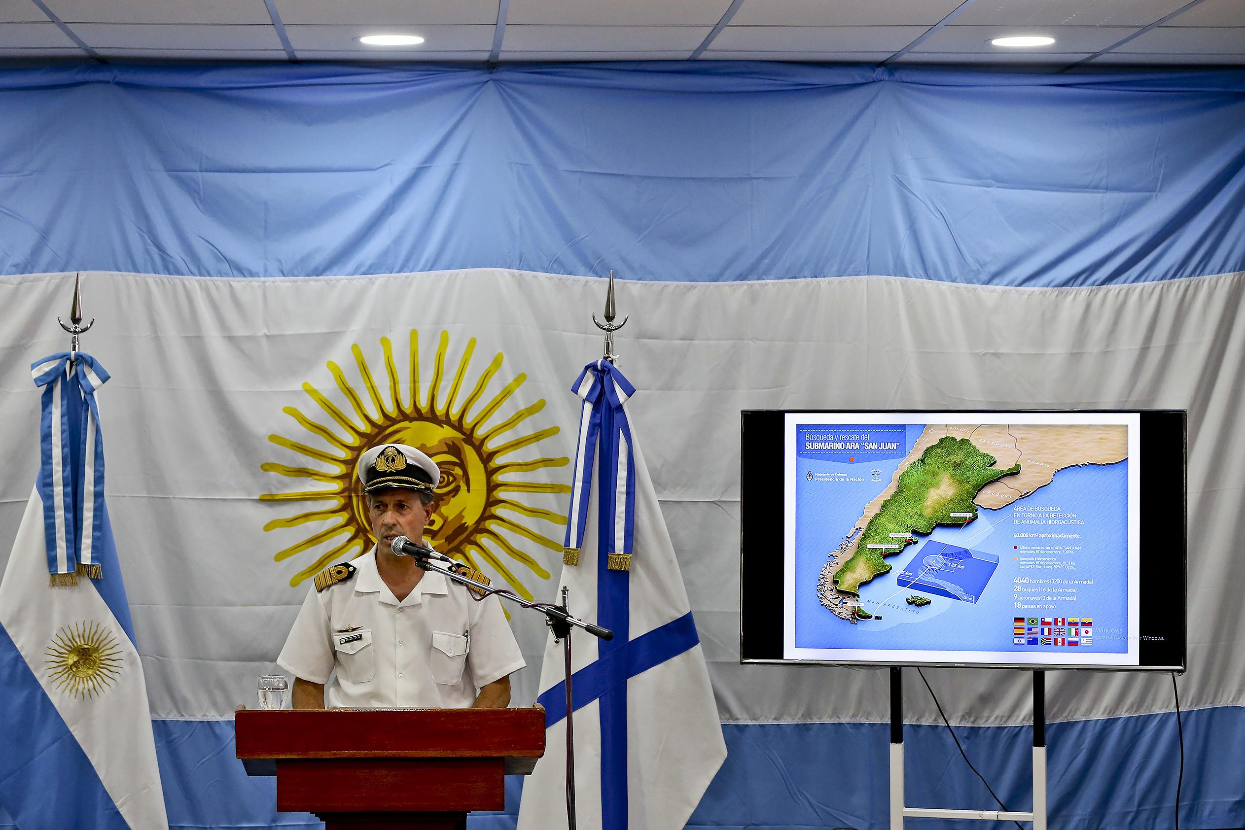 Аргентина признала смерть экипажа подводной лодки «Сан-Хуан»