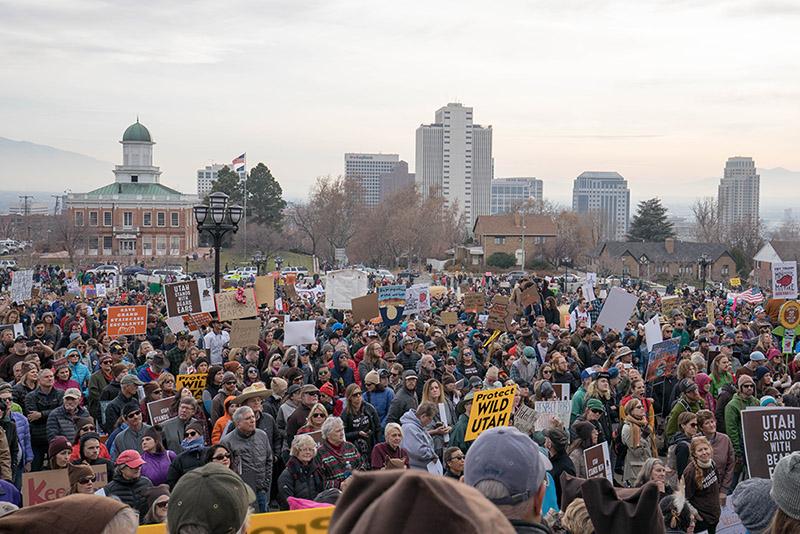 Участники протеста в Солт-Лейк-Сити