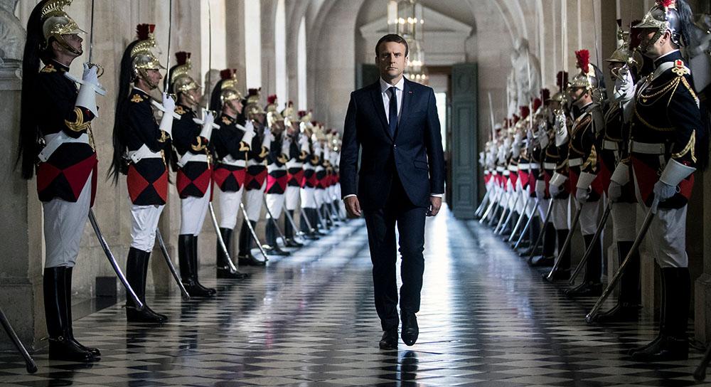 3 июля, Версаль. Эммануэль Макрон перед встречей с парламентом в первые месяцы своего президентства