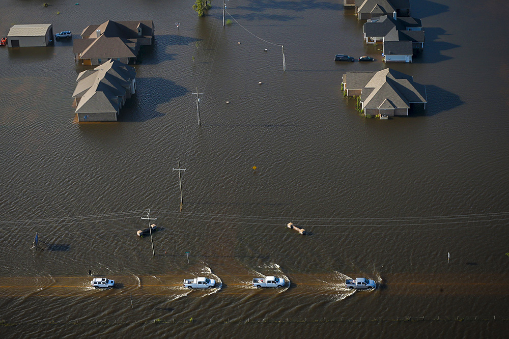 31 августа, Ориндж. Последствия урагана Харви в Техасе