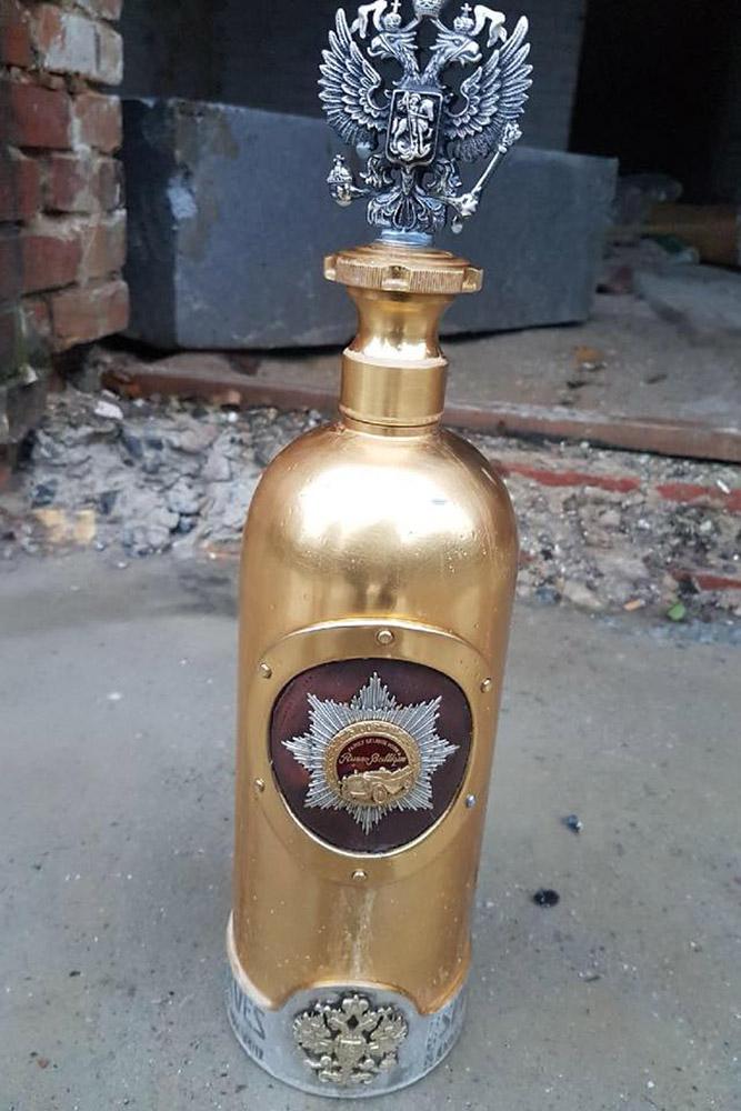 Фото бутылки после того, как она была найдена