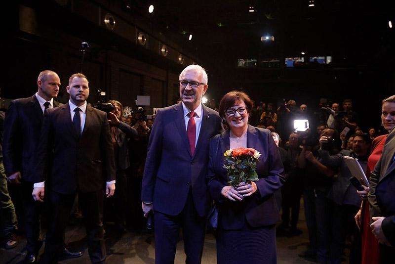 Кандидат в президенты Чехии Иржи Драгош с супругой Евой