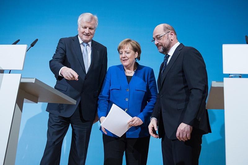 ХСС, ХДС и СДПГ встретились для завершения предварительных коалиционных переговоров