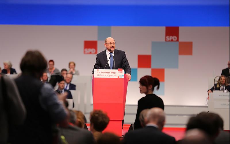 Лидер СДПГ Мартин Шульц выступает на съезде партии