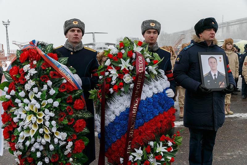 Прощание с погибшим в Сирии летчиком Романом Филиповым